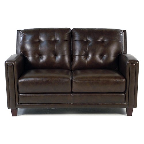 Loft Leather Winfield Leather Loveseat
