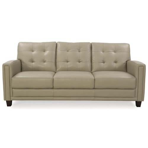 Futura Leather 8583 Leather Sofa with Tufted Back