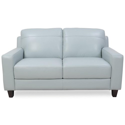 Futura Leather 8689 Contemporary Leather Loveseat
