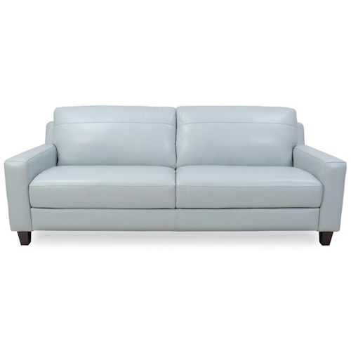 Futura Leather 8689 Contemporary Leather Sofa