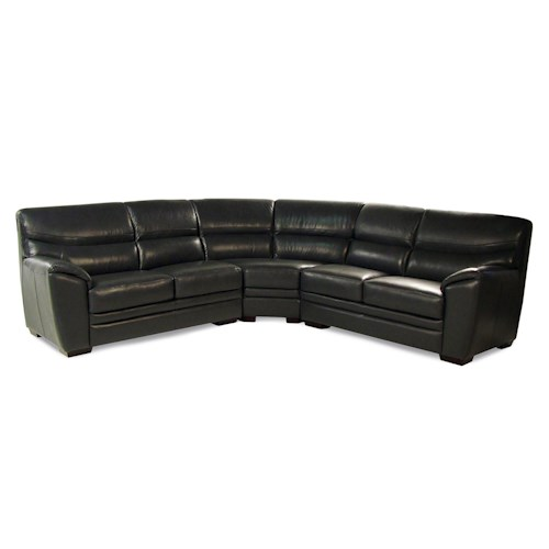 Loft Leather Arabesque 3-Piece Leather Sectional