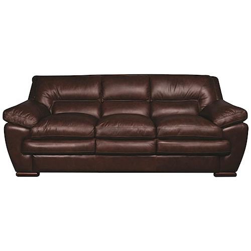 Morris Home Furnishings Austin 100% Leather Sofa