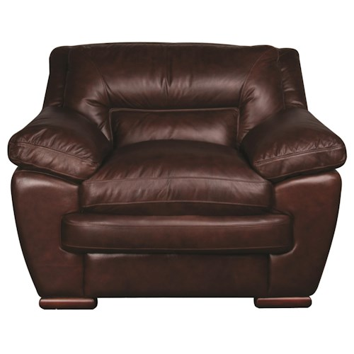 Morris Home Furnishings Austin 100% Leather Chair