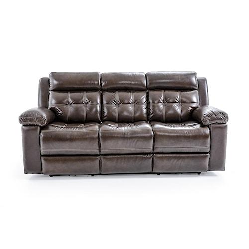 Futura Leather E1267 Electric Motion Sofa with Tufting