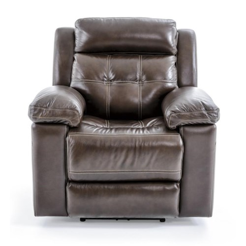 Futura Leather E1267 Casual Electric Recliner with Pillow Arms