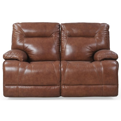 Futura Leather E1298 Casual Electric Motion Loveseat with Power Headrests