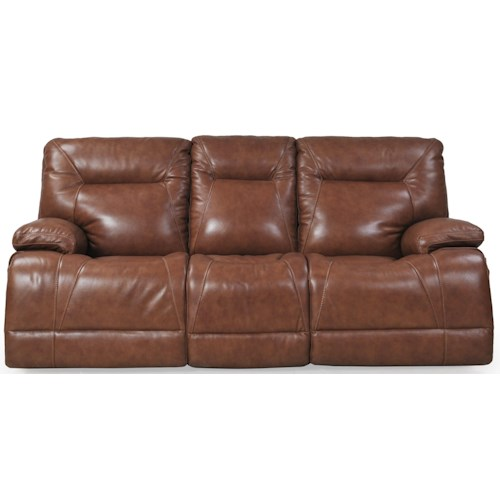 Futura Leather E1298 Casual Electric Motion Sofa with Power Headrests