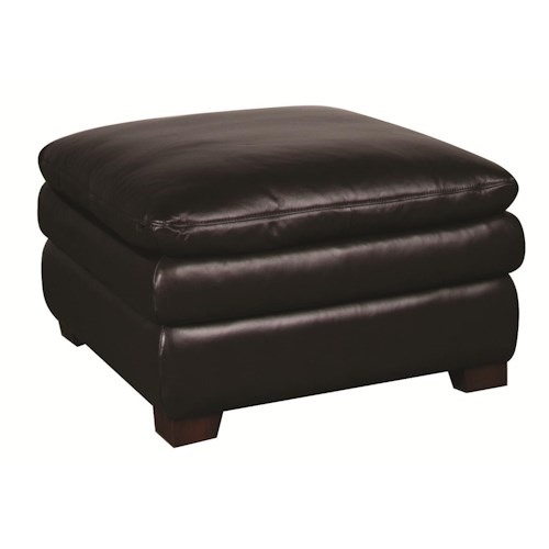 Morris Home Furnishings Edison Leather Ottoman