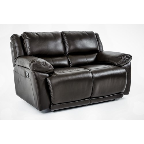 Futura Leather E149 Motion Loveseat with Pillow Arms