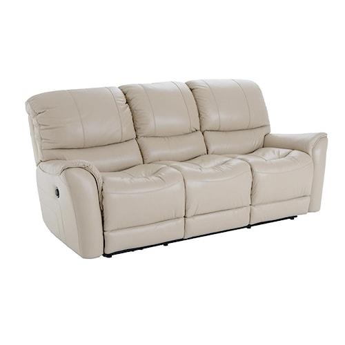 Futura Leather E631 Electric Motion Sofa with Flared Arms
