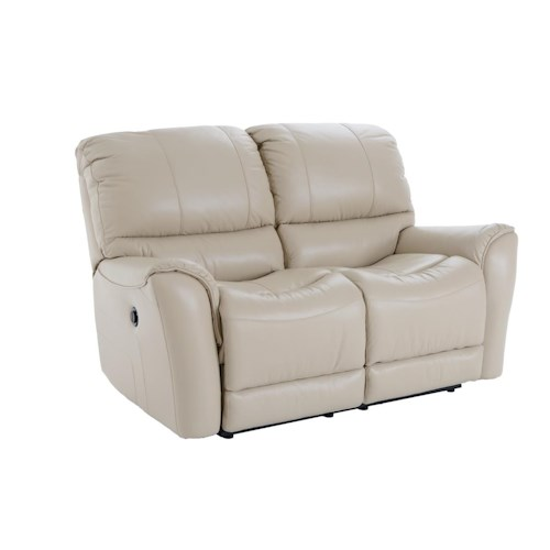 Futura Leather E631 Electric Motion Loveseat with Full Chaise Support Cushions