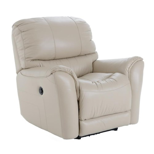 Futura Leather E631 Electric Motion Recliner with Flared Arms
