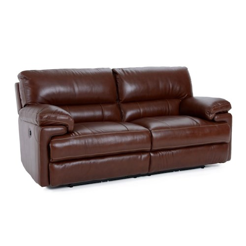 Futura Leather E687 Electric Motion Sofa with Heavy Padded Seat Back