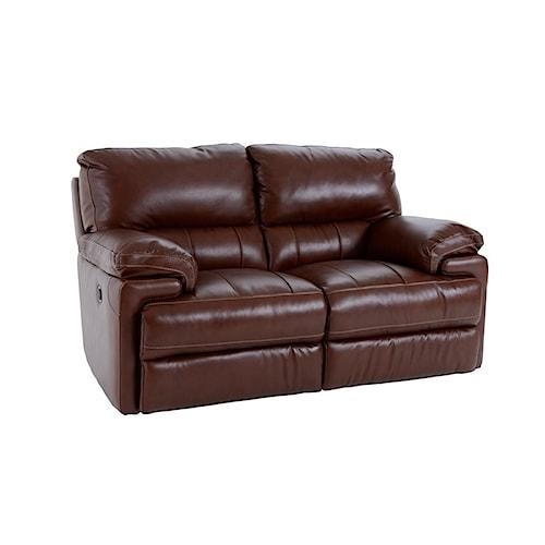 Futura Leather E687 Electric Motion Love Seat w/ 2 Mechanisms
