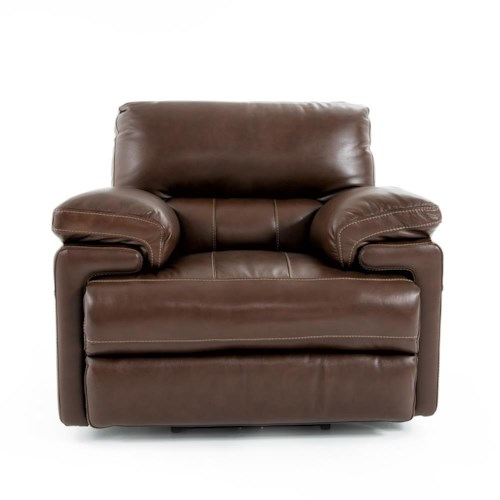 Futura Leather E687 Electric Motion Recliner Chair with Pillow Arms