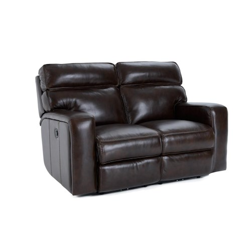 Futura Leather E879 Electric Motion Loveseat with Track Arms