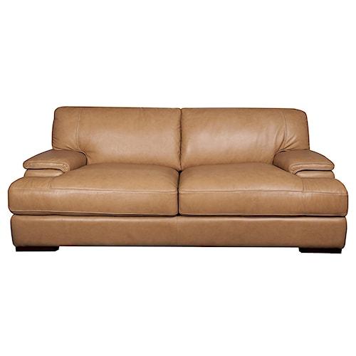Morris Home Furnishings Titus 100% Leather Sofa