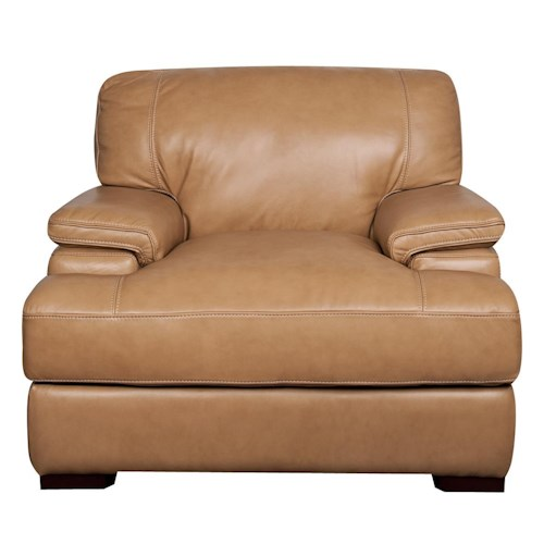 Morris Home Furnishings Titus 100% Leather Chair