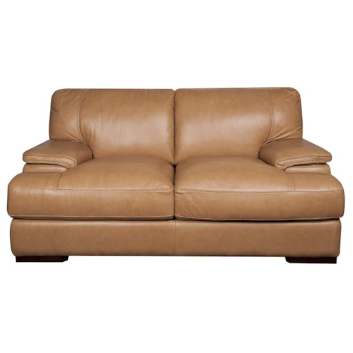 Morris Home Furnishings Titus 100% Leather Loveseat