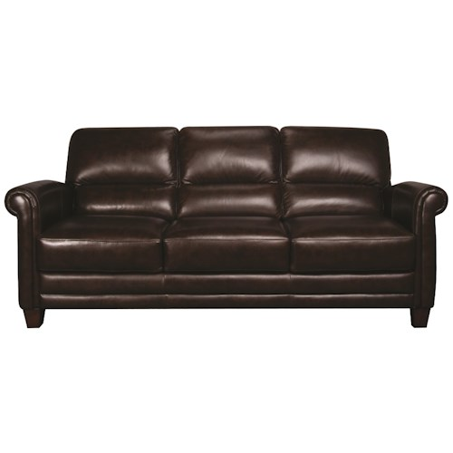Morris Home Furnishings Victor 100% Leather Sofa