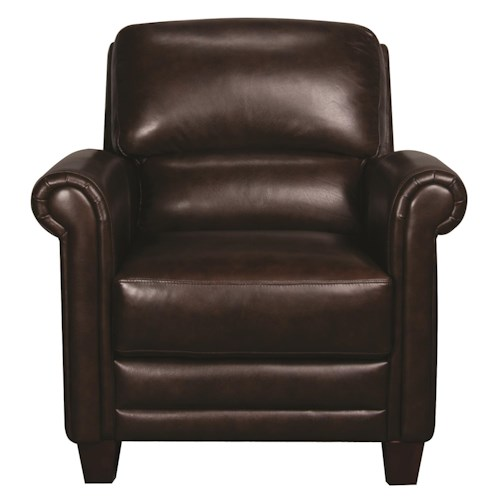 Morris Home Furnishings Victor 100% Leather Chair