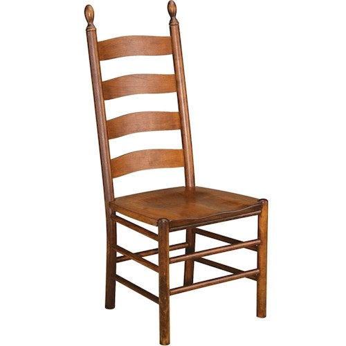 Greenbrier Dining Slat Back Side Chair with Wooden Seat