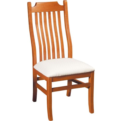 Greenbrier Dining Madison Side Chair with Upholstered Seat