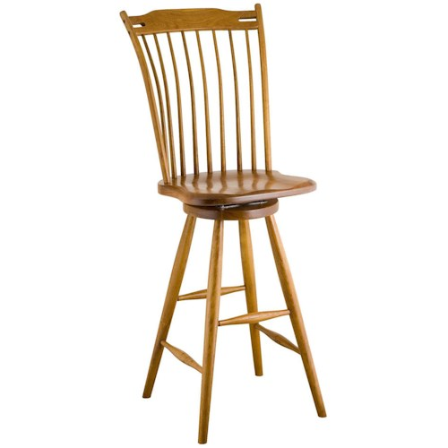 Greenbrier Dining Rod Back Bar Chair
