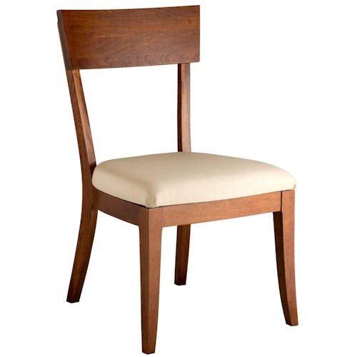 Greenbrier Dining Bella Side Chair with Upholstered Seat