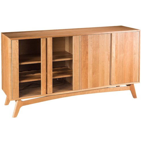 Greenbrier Dining Mitre Sideboard with 2 Doors and Wine Rack