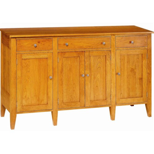 Greenbrier Dining Berkeley Server with Doors and Drawers