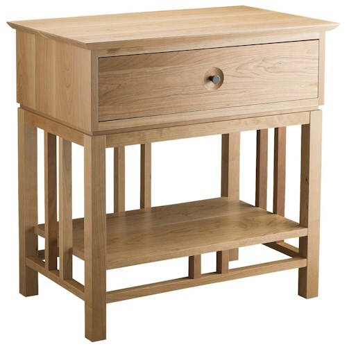 Greenbrier Eastwood Bedroom Nightstand with 1 Drawer and Shelf
