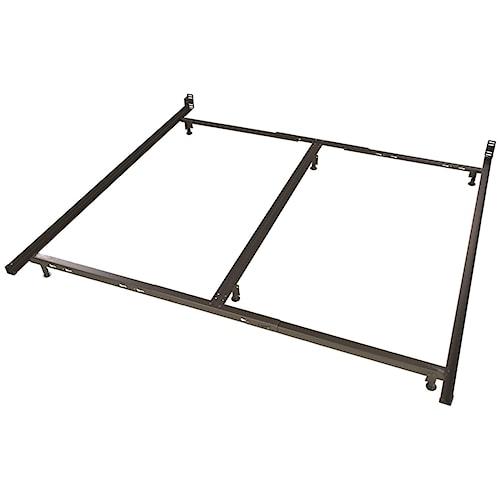 Glideaway Low Profile Bed Frames 6 Leg Queen/King/Cal King Low Profile Bed Frame With Glides