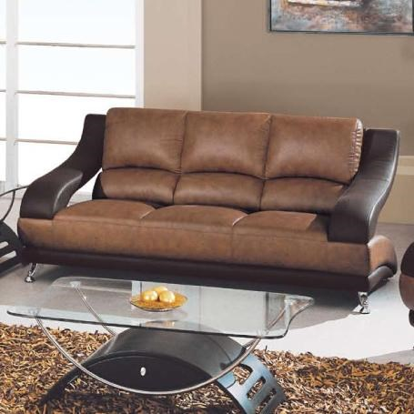 Global Furniture 928 Contemporary Leather Sofa With Metal Feet