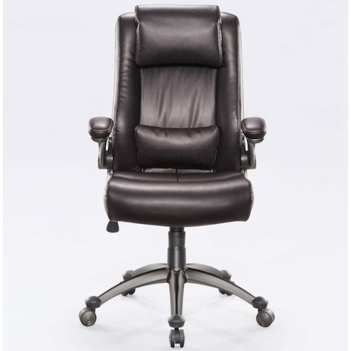 Whalen Madison Black Office Chair with Adjustable Headrest, Armrests, Height, and Memory Foam Lumbar Pillow,