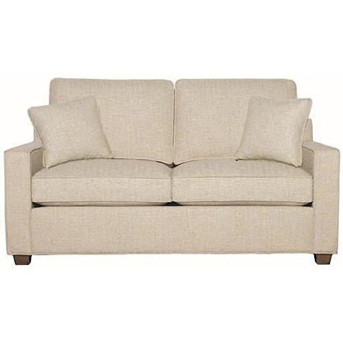 Hallagan Furniture Madison Customizable Transitional Loveseat