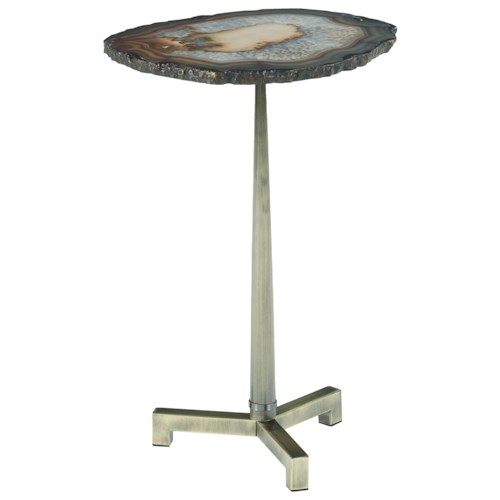 Morris Home Furnishings Agate Accent End Table with Steel Base