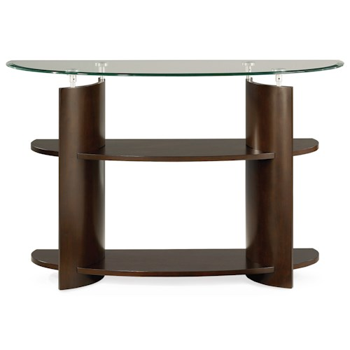 Morris Home Furnishings Apex Glass Top Sofa Table