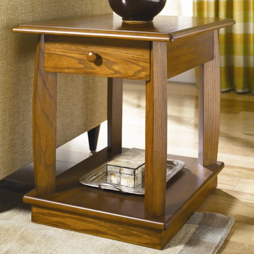 Hammary Ascend Rectangular Drawer End Table