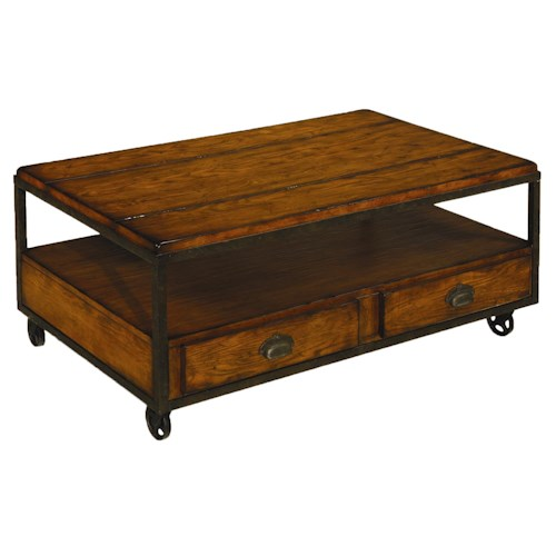 Morris Home Furnishings Chagrin Blvd Rectangular Storage Cocktail Table