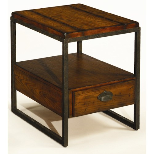 Morris Home Furnishings Chagrin Blvd Rectangular End Table with Drawer