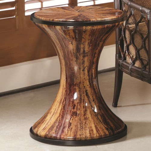 Morris Home Furnishings Boracay Banana Bark Round Accent