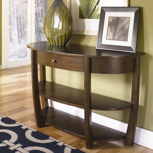 Morris Home Furnishings Concierge Drawer Sofa Table