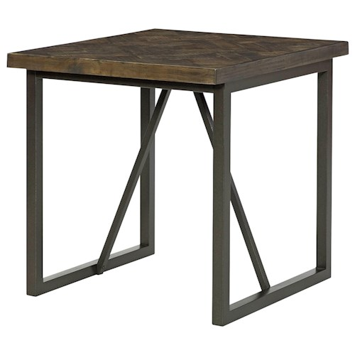 Hammary District Metal and Wood Rectangular End Table