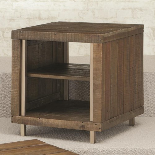 Hammary Flashback Rectangular End Table with Open Shelf