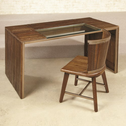 Morris Home Furnishings Flashback Parson Desk with Lift-Top Compartment
