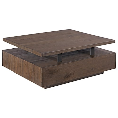 Morris Home Furnishings Fusion Rectangular Cocktail Table with Casters