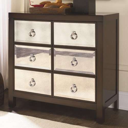 Morris Home Furnishings Hidden Treasures Mirror Drawer Front Chest