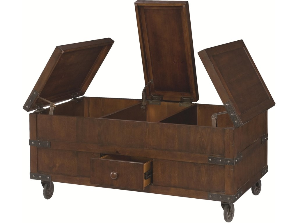 Shown with Flip-Tops and Drawer Open