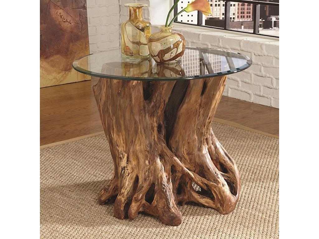 Hammary Hidden Treasures Trunk Coffee Table Hammary Hidden Treasures Root Ball End Table Hudsons Furniture